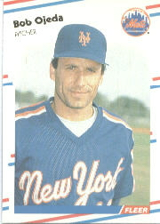 1988 Fleer Baseball Cards      147     Bob Ojeda
