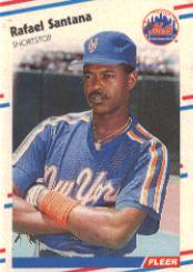 1988 Fleer Baseball Cards      149     Rafael Santana