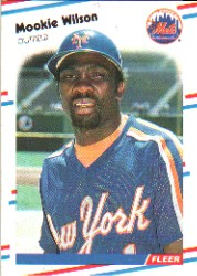 1988 Fleer Baseball Cards      154     Mookie Wilson