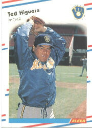 1988 Fleer Baseball Cards      166     Ted Higuera
