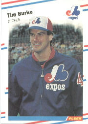 1988 Fleer Baseball Cards      180     Tim Burke