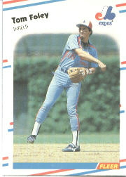 1988 Fleer Baseball Cards      183     Tom Foley