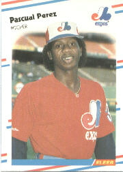 1988 Fleer Baseball Cards      192     Pascual Perez