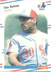 1988 Fleer Baseball Cards      193     Tim Raines
