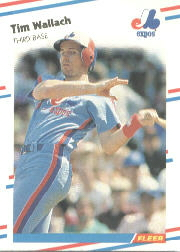 1988 Fleer Baseball Cards      198     Tim Wallach