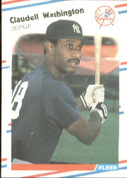 1988 Fleer Baseball Cards      225     Claudell Washington