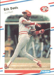 1988 Fleer Baseball Cards      231     Eric Davis