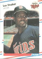 1988 Fleer Baseball Cards      024      Les Straker