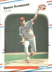 1988 Fleer Baseball Cards      246     Dennis Rasmussen