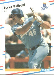 1988 Fleer Baseball Cards      251     Steve Balboni