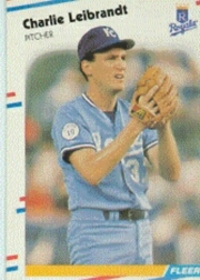1988 Fleer Baseball Cards      263     Charlie Leibrandt