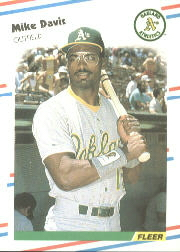 1988 Fleer Baseball Cards      277     Mike Davis