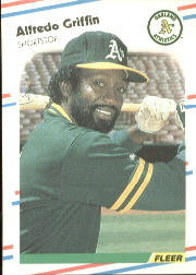 1988 Fleer Baseball Cards      280     Alfredo Griffin