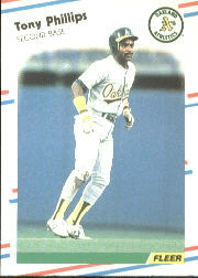 1988 Fleer Baseball Cards      290     Tony Phillips