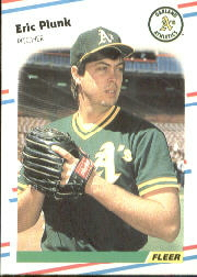 1988 Fleer Baseball Cards      291     Eric Plunk