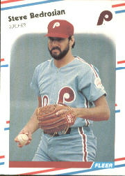 1988 Fleer Baseball Cards      298     Steve Bedrosian
