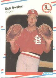 1988 Fleer Baseball Cards      030      Ken Dayley