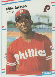 1988 Fleer Baseball Cards      306     Mike Jackson RC*
