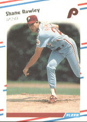 1988 Fleer Baseball Cards      311     Shane Rawley