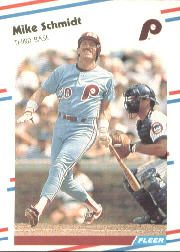 1988 Fleer Baseball Cards      315     Mike Schmidt