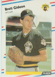 1988 Fleer Baseball Cards      330     Brett Gideon