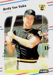 1988 Fleer Baseball Cards      341     Andy Van Slyke UER#{(Wrong batting and#{throwing l