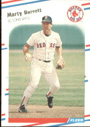 1988 Fleer Baseball Cards      343     Marty Barrett
