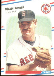 1988 Fleer Baseball Cards      345     Wade Boggs