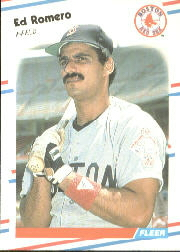 1988 Fleer Baseball Cards      362     Ed Romero