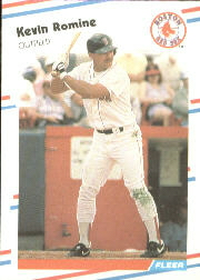 1988 Fleer Baseball Cards      363     Kevin Romine