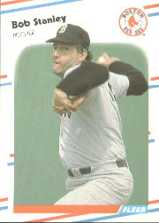 1988 Fleer Baseball Cards      367     Bob Stanley