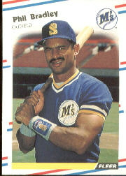 1988 Fleer Baseball Cards      369     Phil Bradley