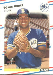 1988 Fleer Baseball Cards      383     Edwin Nunez