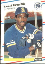 1988 Fleer Baseball Cards      388     Harold Reynolds