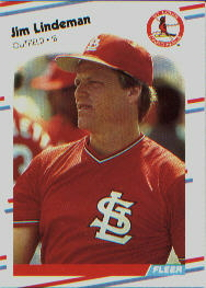 1988 Fleer Baseball Cards      039      Jim Lindeman