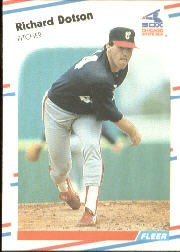 1988 Fleer Baseball Cards      396     Richard Dotson