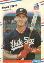 1988 Fleer Baseball Cards      405     Steve Lyons