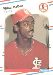 1988 Fleer Baseball Cards      042      Willie McGee