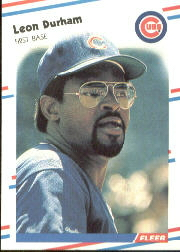 1988 Fleer Baseball Cards      420     Leon Durham