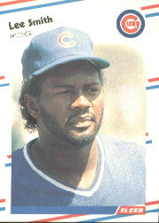 1988 Fleer Baseball Cards      433     Lee Smith