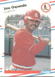1988 Fleer Baseball Cards      044      Jose Oquendo