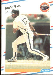 1988 Fleer Baseball Cards      440     Kevin Bass