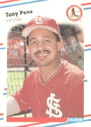 1988 Fleer Baseball Cards      045      Tony Pena