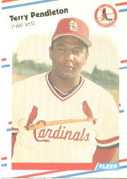 1988 Fleer Baseball Cards      046      Terry Pendleton