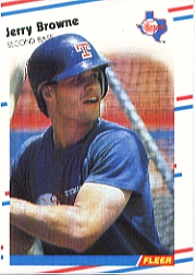 1988 Fleer Baseball Cards      462A    Jerry Browne ERR (White Player)