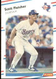 1988 Fleer Baseball Cards      466     Scott Fletcher