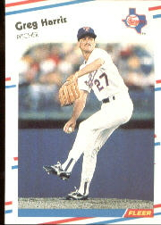1988 Fleer Baseball Cards      468     Greg Harris