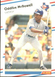 1988 Fleer Baseball Cards      473     Oddibe McDowell