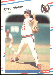 1988 Fleer Baseball Cards      499     Greg Minton
