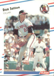 1988 Fleer Baseball Cards      505     Don Sutton